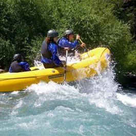Canyoning op rafting