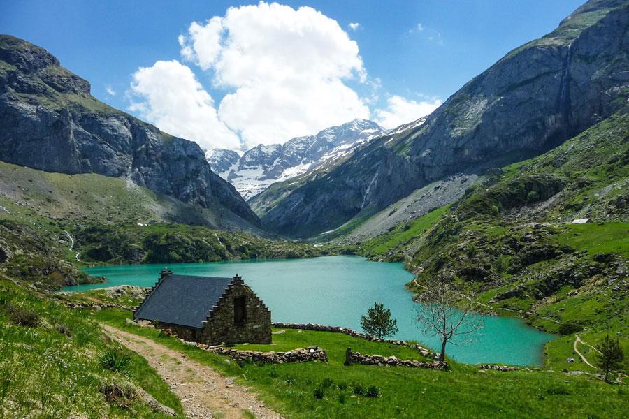 Le lac des Gloriettes et Cirque d'Estaubé