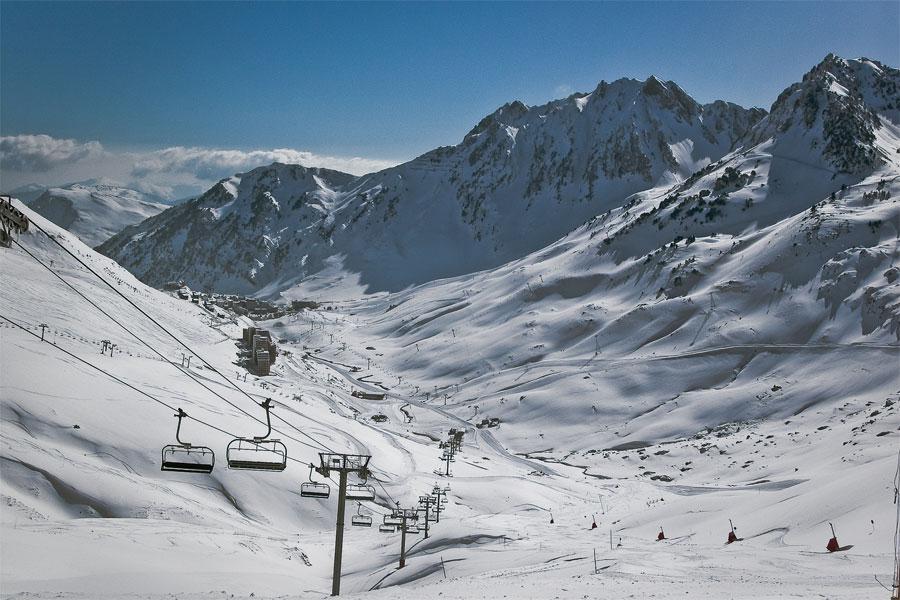 La estación de esquí Toumalet