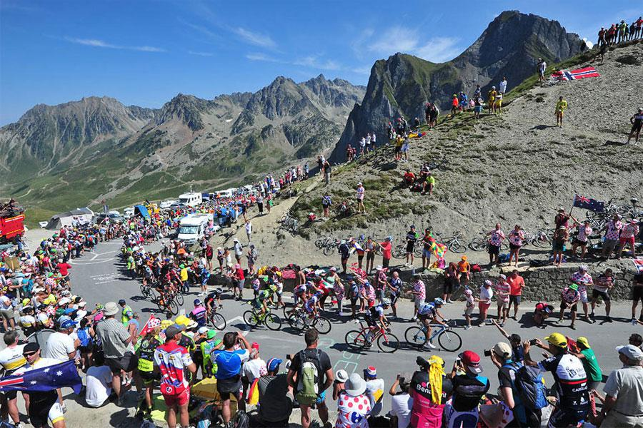 Le tour de France au col du Tourmalet